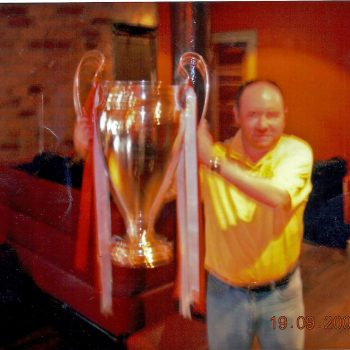 Daniel holds the European Cup